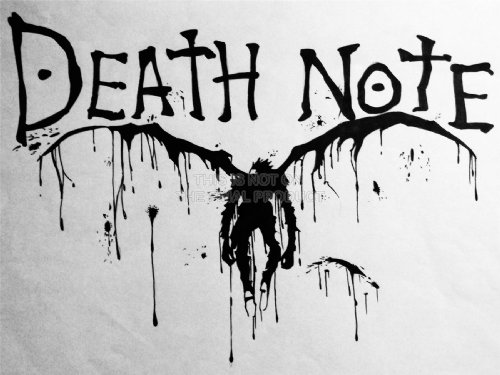 【コミック】デスノート 死神・リューク  アートプリントポスター  MANGA DEATH NOTE TEXT SCRAWL DEMON LV10049