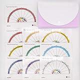 (まとめ)TWS式ダウジングチャート TWS-OSB -01~10 10色全て ラミネート仕様&セクションファイル付き TWS-OSB-SET-04 (ピンク)