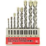SK11 コンクリート用ドリルセット 8本組 3~12mm DSC-2 8PCS