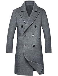 (上海物語)Shanghai Story チェスターコート メンズ メルトンコート ロング丈 ピーコート ウール ビジネス ダブルフェイス ラシャ 紳士服