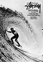 Stussy Surf A4サイズ 【キャンバスポスター】 #td60b STAR DESIGN A4 (210 x 297mm)