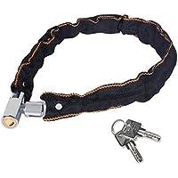 チェーンロック Rotek 自転車 ワイヤーロック 4.4mm特殊鋼て構成 高温に耐えるナイロンカバ付き 切りにくい 錠とロックも全て金属製 盗難防止 レベルアップ スペアキー2つ付き 品質保証