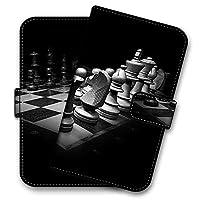 HUAWEI nova 2 HWV31 プリント チェス CHESS ルーク キング ポーン 手帳型 スマホケース スマホカバー