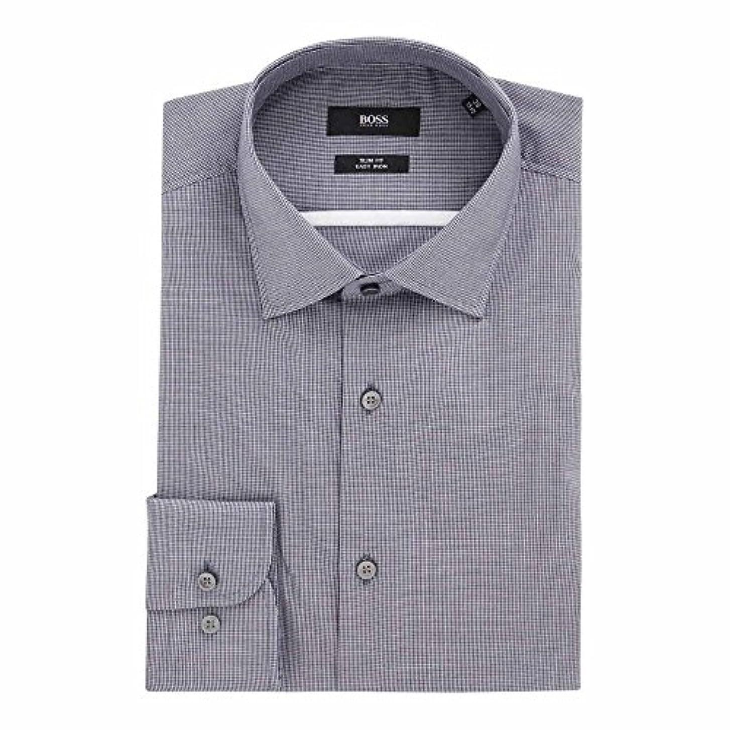 段階浴人物(ヒューゴ ボス) Hugo Boss メンズ トップス シャツ Slim Fit Texture Shirt With Contrast [並行輸入品]