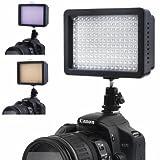 Bestlight® ハイパワー 160 LED ビデオライト シューアダプタ&andPanasonicリチウムイオン電池アダプタ付 Canon, Nikon, Olympus, Pentax デジタル一眼レフ ビデオカメラ 対応