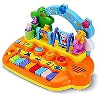 QXMEI おもちゃベビーキーボード 多機能 子供 男の子 女の子 音楽 ピアノ 赤ちゃん 1-3歳 音楽 早期教育玩具