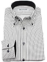 (ブルーム) BLOOM 2018春夏 オリジナル 長袖 ワイシャツ S/M/L/LL/3L/4L/5L/6L 10柄 形態安定 ドゥエボットーニ ボタンダウン