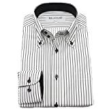 (ブルーム) BLOOM 2018春夏 オリジナル 長袖 ワイシャツ 形態安定 ブラックストライプ 9 L