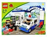[レゴ]LEGO Ville Year 2008 Duplo Series Vehicle Set POLICE STATION Set with Jail, Police Car with Lights and Sounds Plus Police, Robber and [並行輸入品]