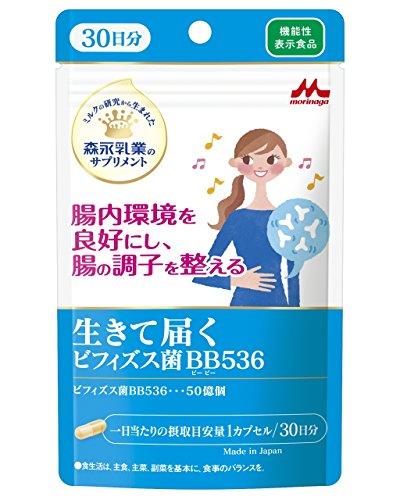 森永乳業 生きて届く ビフィズス菌BB536 30日分 機能性表示食品【1秒腸活】