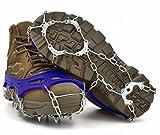 ZACCARY's (ザッカリーズ) 11本爪 アイゼン 凍結 路面 滑り止め スノー チェーン スパイク 遮光 防水 二種類の収納袋 セット ネイビー