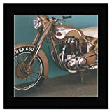 Classic Bikes - BSA Golden Flash 1953 Mini Poster - 40x40cm