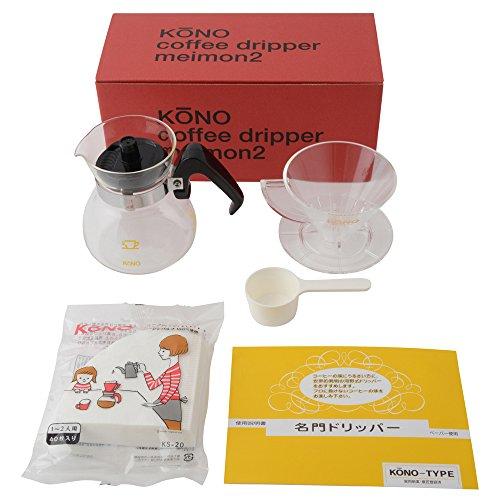 RoomClip商品情報 - KONO式 珈琲サイフォン コーノ式 MDN-20 名門 ドリッパー セット 2人用 マイクロファイバークロス付き