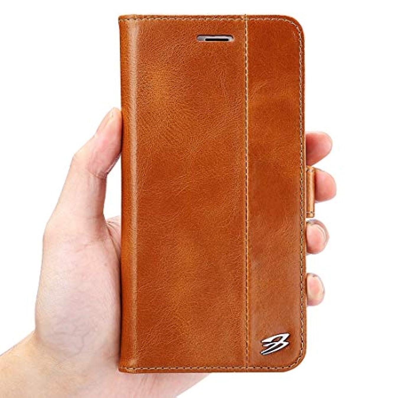 大学生メイエラ主人KAZOKUYiZi スマホケース For iphone 6 7 6p 7p 手帳型 本革 携帯ケース ビジネス風 保護ケース 携帯電話アクセサリー 携帯カバー 電話ケース スタンド機能付き (Color : 赤, Size : IPhone6 plus)
