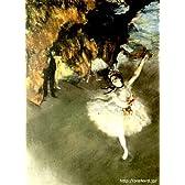 ドガ 「舞台の踊り子」 原画同縮尺近似(12号) degas-09-04