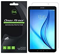 """[ 3- Pack ] DMAX Armor Samsung Galaxy Tab E Nook 9.6""""スクリーンプロテクター、気泡防止高定義クリアshield- Lifetime Replacements warranty-小売パッケージ"""