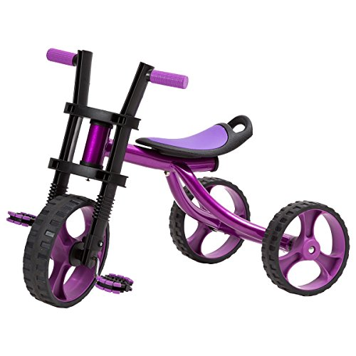 【自慢できるオシャレでスマートな三輪車(対象年齢3歳~5歳)】後輪幅が広く安定感抜群 サイズ調整可能...