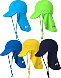 VaenaitBabyベビー子供水着日焼け予防UVカットフラップキャップ帽子UVFlaphatLimegreenS