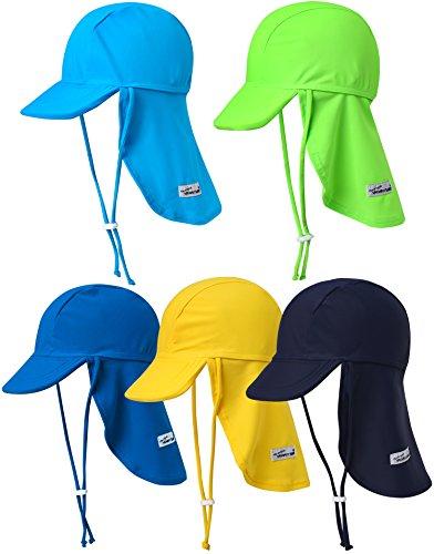VaenaitBabyベビー子供水着日焼け予防UVカットフラップキャップ帽子UVFlaphatLimegreenL