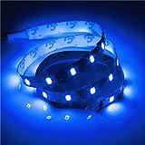 25/50センチ3528 5050 5630非防水led柔軟なケースストリップライト用pcコンピュータdiy dc12v (25cm3528, 青い)
