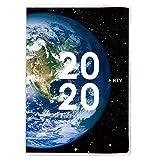 アーティミス 手帳 2020年 B6 ウィークリー ブロック クリアプラネット 地球 20WDB6-CP (2019年 12月始まり)