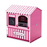 Teamson Kids - Dreamland City Café 12インチ ドールハウス - ピンク/ホワイト/ブラック