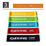 CMXING Japan フィットネスチューブ トレーニングチューブ エクササイズバンド 5本セット 収納袋付き