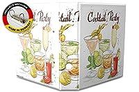 バインダー 2 Ring Binder Lever Arch Folder A4 printed Cocktail party