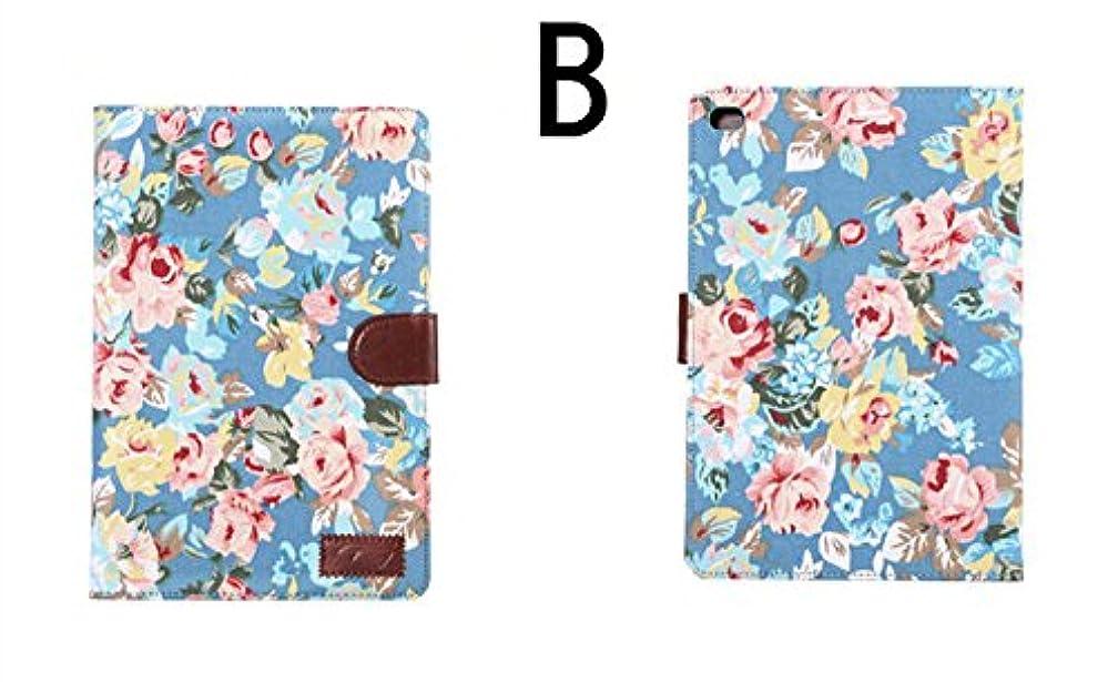 弁護人物理的な肺ipad mini4 ケース ipad mini4 カバー アイパッドミニ4 ケース 手帳型 オートスリープ機能付き カード収納あり スタンドタイプ 花柄 おしゃれ B
