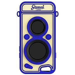 GIZMON iPhone6 iPhone6s対応 シリコンケース 2眼レフ カメラ型 GIZMON SOFT iCAFLEX ブルー