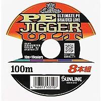 サンライン PEジガーULT PEJIGGER ULT 8本組 4号60LB 色分け 10m×5色 100m単価 連結可