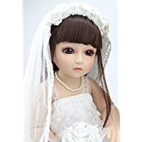 BJD Brideアクションフィギュアボールジョイント人形BathベビードレスUp Wig人形