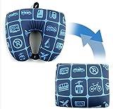 Travel Mate 2 IN 1 ビーズトランスフォーマー 旅行用 ネック枕 クッション 海外直送品 (Transformer Travel Neck Pillow Cushion)