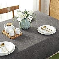 ZXT亜麻のテーブルクロス、防水アンチスカーディング生地コットンとリネンのテーブルクロス家具装飾無地テーブルクロス (Color : C, Size : 140*250cm)