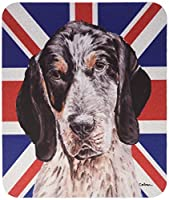 Caroline's Treasures Blue Tick Coonhound with English Union Jack British Flag Mouse Pad/Trivet (SC9890MP) [並行輸入品]