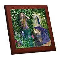 アーサー・ヒューズ『Fair Rosamund』の木枠付きフォトタイル(世界の名作シリーズ) (トリミングあり)