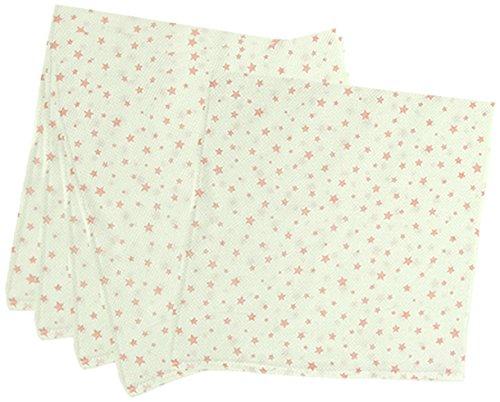 5枚組 ハーフサイズ ドビー織 星柄 仕立て布おむつ ピンク TK712 日本製