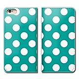 Tiara iPhone8 Plus 5.5 iPhone8Plus スマホケース 手帳型 ベルトなし ドット パステル カラフル 水玉 手帳ケース カバー バンドなし マグネット式 バンドレス [EB09801_04]