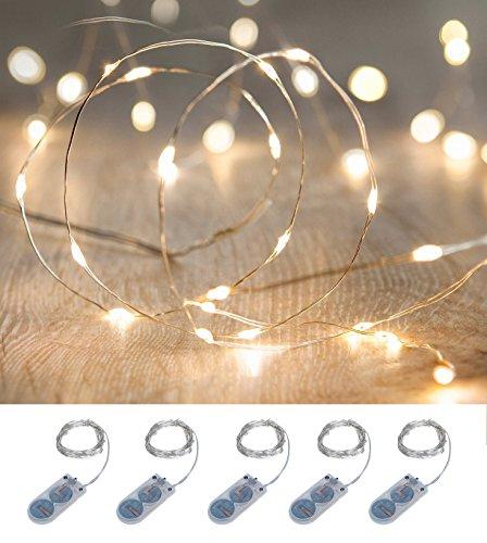 イルミネーション LED ライト ワイヤーライト 電飾 電池 式 クリスマス ツリー 飾り MANA...