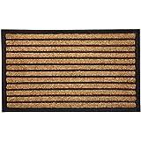 Rubber Bordered Coir Doormat Stripes | Welcome Mat | Entry Mat | (60 cm x 90 cm)