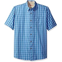 Wrangler Authentics Men's Short Sleeve Classic Plaid Shirt