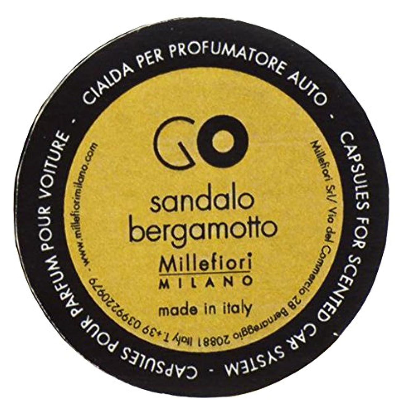 旅行者擬人良心的Millefiori カーエアフレッシュナー GO レフィル サンダルベルガモット 1pcs RGSB