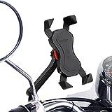オートバイ スクーター バイク 自転車 スマホ ホルダー スマートフォン ナビ iphone 7 6 6s Plus galaxy xperia 携帯 GPS[1年間の保証]