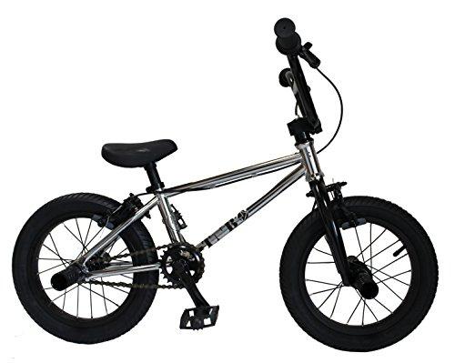 """完全組み立てすぐに乗れます。『最軽量、高品質な台湾製はこのクラス最高峰です。』【BMX KIDS 14インチ】【当店別注メッキカラー】【子供自転車】TNB / PLUG - 14"""" / メッキ (ブラック)"""