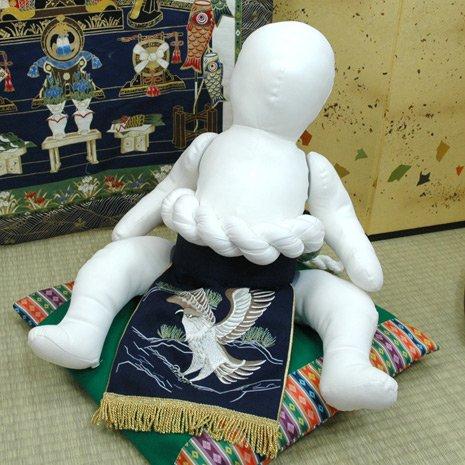 相撲 横綱変身セット 紺 鷹 100日-1才(70cm-80cm)