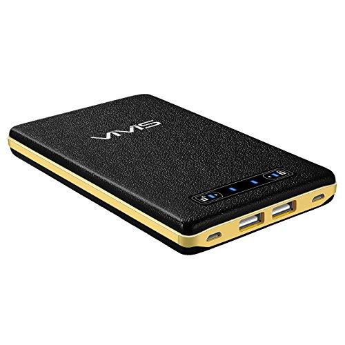 VIVIS 20000mAhモバイルバッテリー 大容量 スマホ充電器(2入力ポート 合計4A 2出力ポート合計5A 急速充電可能 iSmart機能搭載 皮のような手触り スライドスイッチのデザイン 高品質リチウムポリマー電池使用)iPhone / iPad / Galaxy / Xperia / Androidスマホ/ タブレット等対応(ブラック)