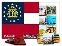 """DA CHOCOLATE キャンディ スーベニア """"ジョージア"""" GEORGIA チョコレートセット 5×5一箱 (Flag)"""