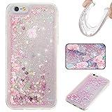 DOTORA iPhone 6S / iPhone 6 専用ソフトケース TPUケース キラキラ ラメ入り 動く 流れる 透明 耐衝撃 防塵 保護 カバー ピンク