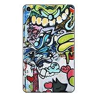 Qua tab QZ8 KYT32 スキンシール au エーユー タブレット tablet シール ステッカー ケース 保護シール 背面 人気 単品 おしゃれ ユニーク イラスト キャラクター モンスター 005009