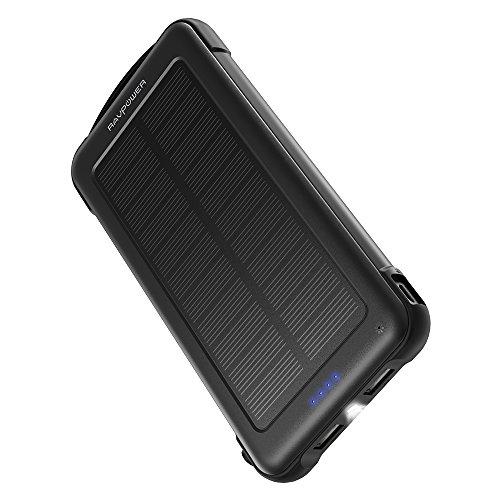 RAVPower モバイルバッテリー 10000mAh ソーラーチャージャー 太陽光で充電でき Android/Apple/iPad等対応 災害/旅行/アウトドアに大活躍 RP-PB082